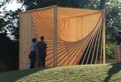 soren korsgaard: organic cube #art #wood #geometry #light #cube
