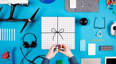 fuzzco, gift, paper, photo, hands, tie, string