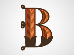 Letter B #letter #type #illustration #b