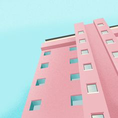 Pink appartments #pink #speckled #tropical