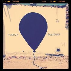 All sizes | FUERZA PULMONAR - lung power | Flickr - Photo Sharing! #gaucholadri #argentina #art #street #mendoza
