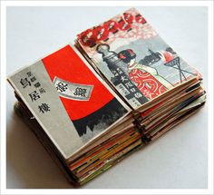 Japanese Matchbox Labels, 1920s #matchbox #illustration #japanese #labels