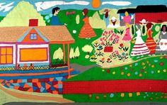 Outsider Folk Art Gallery - Outsider Art | Floretta Emma Warfel | WAF008 | #painting #naive #art