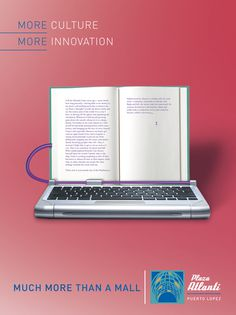 Much More Plaza Atlanti - Advertising #computer #grzunov #pink #innovation #print #book #advertising #culture #ad