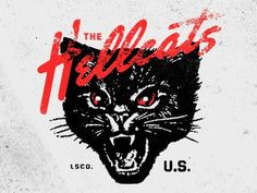 Dribbble - The Hellcats by Jeremy Paul Beasley #type #logo #cat #black