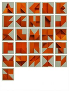 AisleOne - Graphic Design, Typography and Grid Systems #tim #orange #alphabet #folding #paper #fishlock