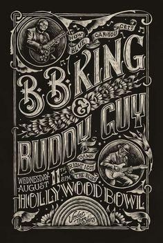 Blues Poster #blues #guitar #bb #drawn #poster #hand #king