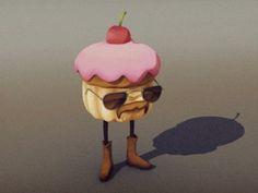 Copcake_turntable #cupcake #animation #gif