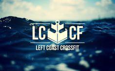 Left Coast Crossfit #logo #anchor #nautical