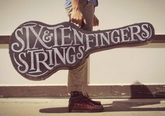 Six Strings, Ten Fingers by Joseph Alessio #design #graphic #quality #typography