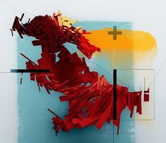 Motion QRG Cover - semafore #blue #sculpture #red #light #orange #cut #motion #edit #mask #plus #iterator