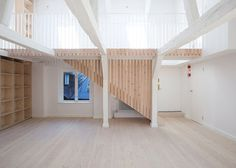 Studiomama pairs pale wood with marble for revamped loft in Stockholm #interior