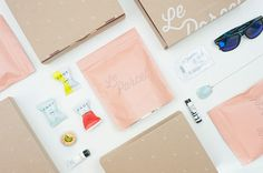 Le Parcel Packaging System #packaging #pink #feminine #system #kit #le #parcel