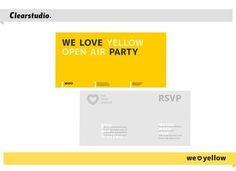All sizes | We Love Yellow — rsvp | Flickr - Photo Sharing! #identity #rsvp #branding