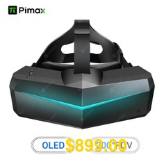 Pimax #5K #XR #OLED #VR #Virtual #Reality #Headset #with #Wide #200 #degree #FOV. # #Dual #2560x1440p #OLED #Panels