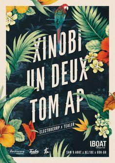 Artwork for Xinobi, Un Deux & Tom AP @ Iboat #poster #digital