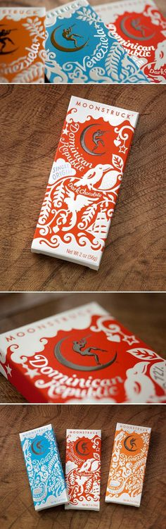 Moonstruck Chocolate #design #packaging