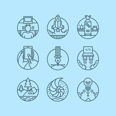 Fullset actualpixels #illustration #icons #line art