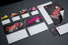 MTV Stationery by MotherBird on Behance #stationary #print #typography #neon #bright #type
