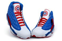 "New Basketball Sneakers Nike Michael Jordan Retro 13 ""Captain American"" Custom #shoes"