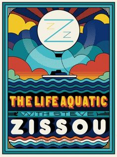 THE LIFE AQUATIC - Sam's Myth #movie #print #screen #poster #silk #aquatic #life