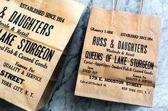 kelli anderson, logo, design, fish, restaurant, Russ & Daughters