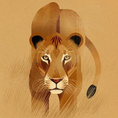 Animal Illustration by Dieter Braun #wildlife #animals #drawing #lion #lionkillingdentist #biggamehunting #nobiggamehunting