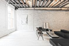 [y_h_b_t_i] | this all day #interior #home #brick #beams