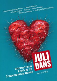 Julidans 2013 - International festival for contemporary dance - www.josellopis.com #creative #julidans #campaign #josellopis #jose #llopis #poster #ad