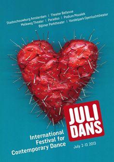 Julidans 2013 - International festival for contemporary dance - www.josellopis.com #creative #julidans #campaign #josellopis #jose #llopis #poster #ad