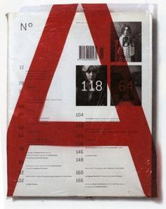 A Magazine #typography #editorial design