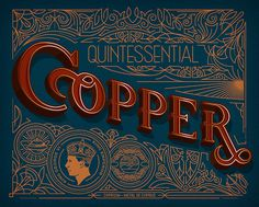 Copper Lettering Typography