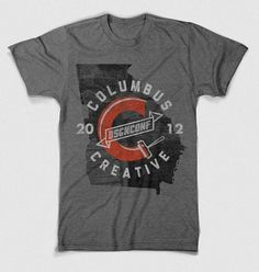 Dribbble - cc2012_3_mock.jpg by Jeff Finley #shirt #grey #2012 #jeff finley #columbus creative