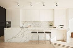 The Design Chaser: Homes to Inspire | Majestic in Melbourne #interior #design #decor #kitchen #marble #deco #decoration