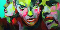 Françoise Nielly - Artist :: Gallery #painting #neon #oil #rave