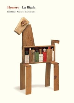 Santillana : Isidro Ferrer #ferrer #huesca #horse #spain #homero #troya #book #iliada #cover #isidro