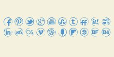 Stamp Icons Set #stamp #ink #icons #social