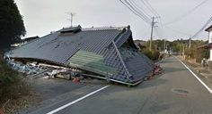 Photography Blog: Japanese Nuclear Ghost Town by Google Maps #photography