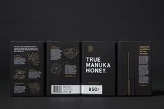 True Honey Company Branding Packaging New Zealand Marx Design inspiration mindsparkle mag designblog www.mindsparklemag.com black bee packag