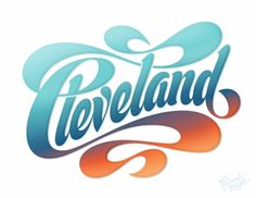 Looking good Cleveland! — Friends of Type #lettering #typography