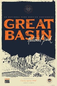 Great Basin NP #type #typography #poster #handdrawn #handtype #illustration