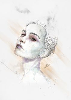 Digital WaterColor #woman
