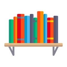 See more icon inspiration related to book, bookshelf, library, education, furniture, bookcase, storage and furniture and household on Flaticon.