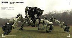 concept robots: BERGSTEIGER by Erasmus Brosdau #mill-tech #mecha