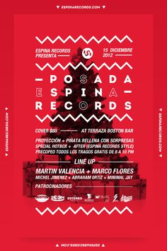 Red Christmas flyer #holidays #djs #red #mexico #flyer #electronic #christmas #poster #music #party