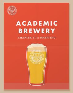 Academic Brewery Poster #beer #illustration #poster
