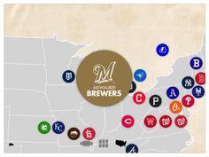 Topps Pennant Baseball #map #app #baseball #ui