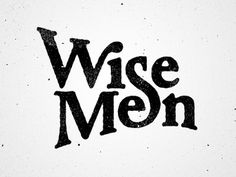 Dribbble - Wise Men by Dan Cassaro #wise #cassaro #dan #ligatures #men #logo