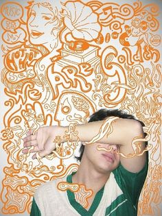 WE ARE GOLDEN Yan Hayashi by ~Ainon on deviantART #people #orange #drawings #over photo