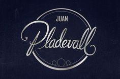 eduardorh » JUAN PLADEVALL #lettering #script #brand #identity #logo